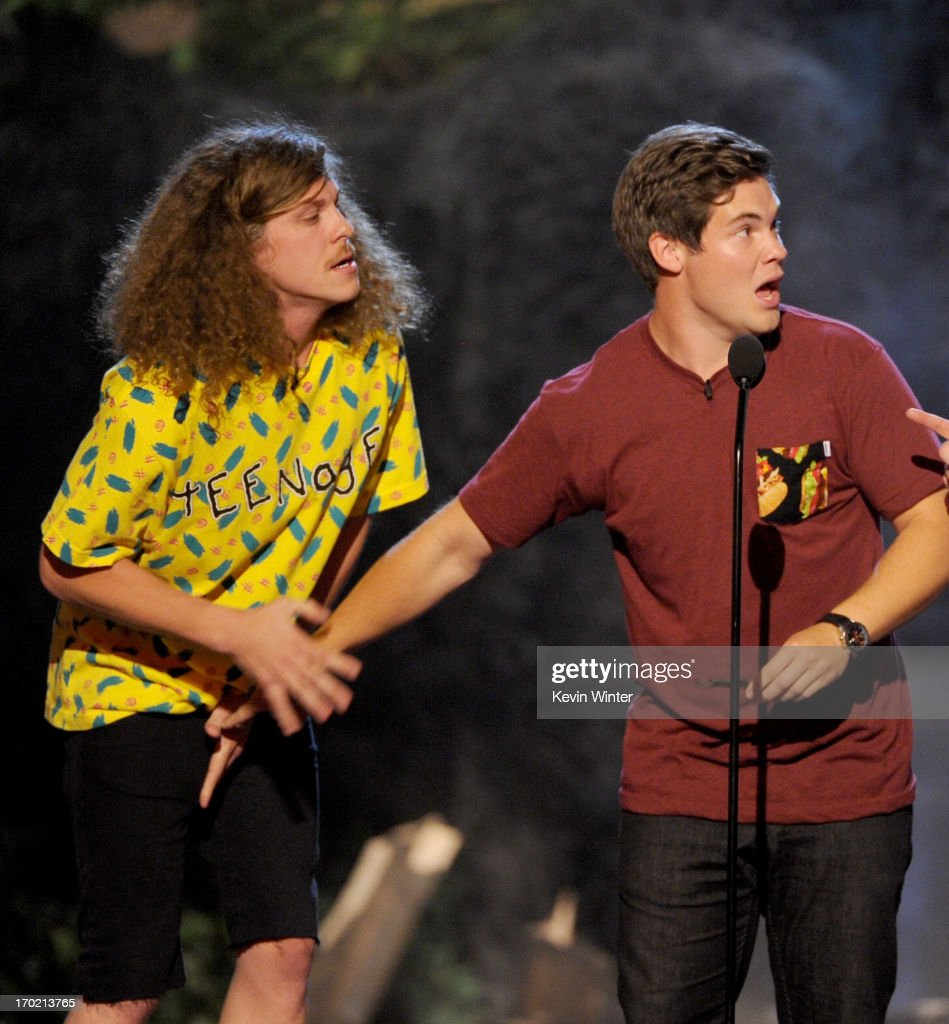 Actors Blake Anderson (L) and Adam DeVine of Workaholics perform onstage during Spike TV's Guys Choice 2013 at Sony Pictures Studios on June 8, 2013 in Culver City, California.