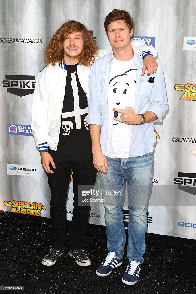 Actors Blake Anderson and Anders Holm arrive at Spike TV's 'SCREAM 2011' awards held at the Universal Studios Backlot on October 15, 2011 in Universal City, California.