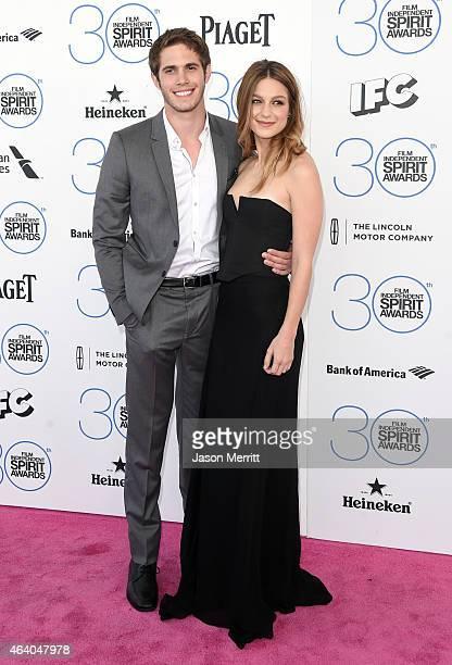 Actors Blake Jenner and Melissa Benoist attend the 2015 Film Independent Spirit Awards at Santa Monica Beach on February 21 2015 in Santa Monica...