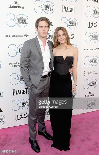 Actors Blake Jenner and Melissa Benoist attend the 30th Annual Film Independent Spirit Awards at Santa Monica Beach on February 21 2015 in Santa...