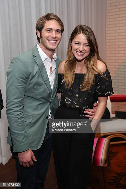 Actors Blake Jenner and Melissa Benoist attend the 'Everybody Wants Some' after party during the 2016 SXSW Music Film Interactive Festival on March...