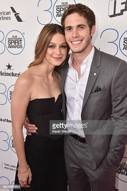 Actors Blake Jenner and Melissa Benoist attends the 2015 Film Independent Spirit Awards at Santa Monica Beach on February 21 2015 in Santa Monica...