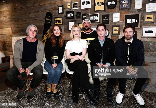 Actors Blake Jenner Michelle Monaghan Elle Fanning actor/executive producer Logan Lerman and director Shawn Christensen of 'Sidney Hall' and Kevin...