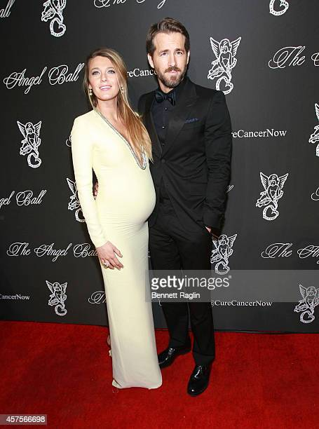 Actors Blake Lively and Ryan Reynolds attend 2014 Angel Ball at Cipriani Wall Street on October 20 2014 in New York City