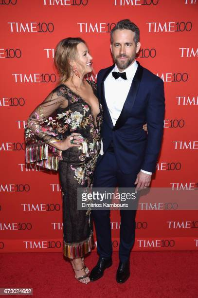 Actors Blake Lively and Ryan Reynolds attend the 2017 Time 100 Gala at Jazz at Lincoln Center on April 25 2017 in New York City