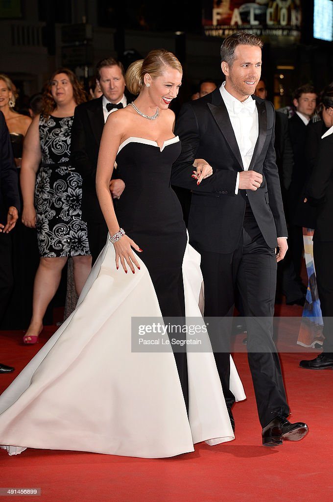 Actors Blake Lively (L) and Ryan Reynolds attend the 'Captives' premiere during the 67th Annual Cannes Film Festival on May 16, 2014 in Cannes, France.