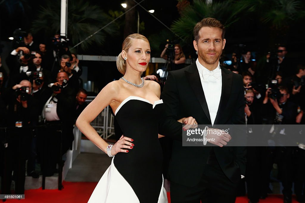 Actors <a gi-track='captionPersonalityLinkClicked' href=/galleries/search?phrase=Blake+Lively&family=editorial&specificpeople=221673 ng-click='$event.stopPropagation()'>Blake Lively</a> and <a gi-track='captionPersonalityLinkClicked' href=/galleries/search?phrase=Ryan+Reynolds&family=editorial&specificpeople=204149 ng-click='$event.stopPropagation()'>Ryan Reynolds</a> attend the 'Captives' premiere during the 67th Annual Cannes Film Festival on May 16, 2014 in Cannes, France.