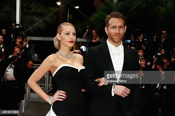 Actors Blake Lively and Ryan Reynolds attend the 'Captives' premiere during the 67th Annual Cannes Film Festival on May 16 2014 in Cannes France