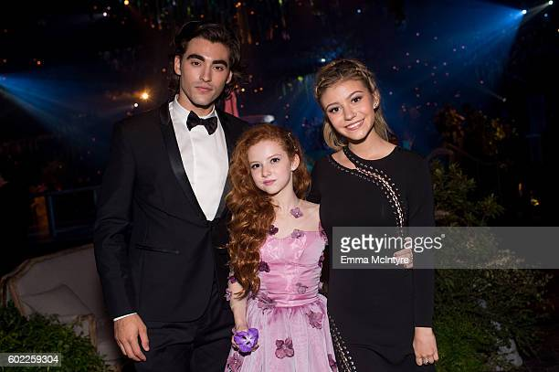 Actors Blake Michael Francesca Capaldi and G Hannelius attend the Creative Arts Ball at Microsoft Theater on September 10 2016 in Los Angeles...