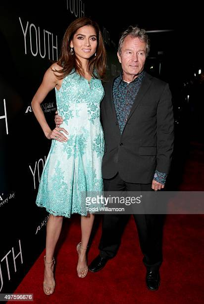 Actors Blanca Blanco and John Savage arrive at the Los Angeles Premiere of Fox Searchlight's 'Youth' at the Directors Guild Theatre on November 17...