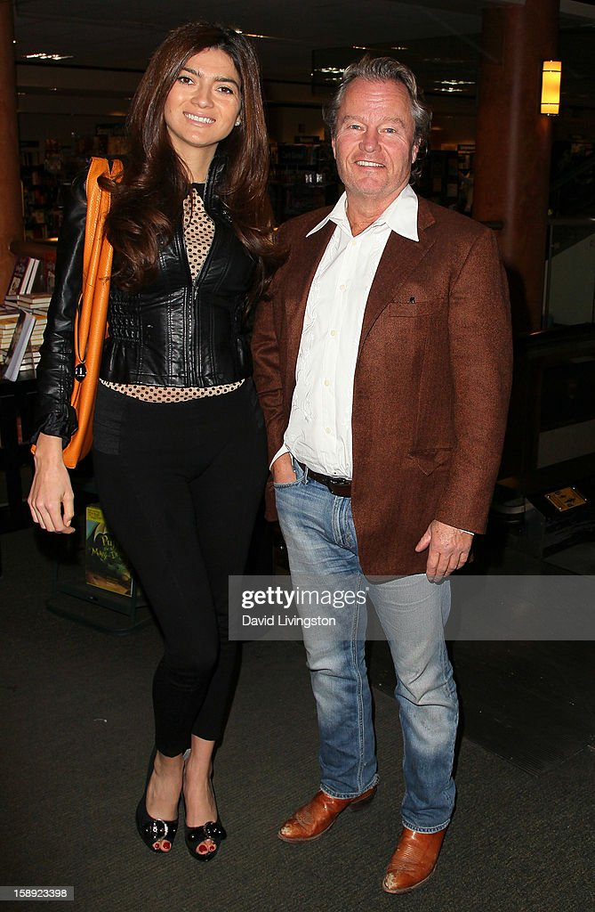 Actors Blanca Blanco (L) and John Savage attend a signing of Christopher Kennedy Lawford's book 'Recover to Live: Kick Any Habit, Manage Any Addiction' at Barnes & Noble 3rd Street Promenade on January 3, 2013 in Santa Monica, California.