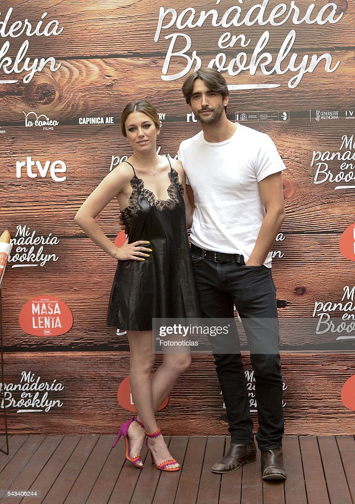 Actors <a gi-track='captionPersonalityLinkClicked' href=/galleries/search?phrase=Blanca+Suarez&family=editorial&specificpeople=4708287 ng-click='$event.stopPropagation()'>Blanca Suarez</a> and Aitor Luna attend a photocall for 'Mi Panaderia de Brooklyn' at the Hospes Hotel on June 28, 2016 in Madrid, Spain.