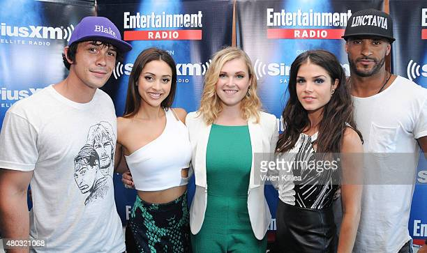Actors Bob Morley Lindsey Morgan Eliza Taylor Marie Avgeropoulos and Ricky Whittle attend SiriusXM's Entertainment Weekly Radio Channel Broadcasts...