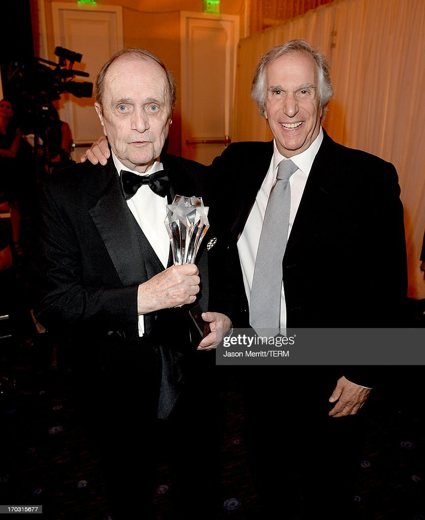 Actors <a gi-track='captionPersonalityLinkClicked' href=/galleries/search?phrase=Bob+Newhart&family=editorial&specificpeople=208111 ng-click='$event.stopPropagation()'>Bob Newhart</a>, (L) and <a gi-track='captionPersonalityLinkClicked' href=/galleries/search?phrase=Henry+Winkler+-+Actor&family=editorial&specificpeople=206799 ng-click='$event.stopPropagation()'>Henry Winkler</a> attend Broadcast Television Journalists Association's third annual Critics' Choice Television Awards at The Beverly Hilton Hotel on June 10, 2013 in Los Angeles, California.