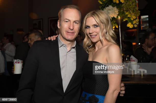 Actors Bob Odenkirk and Rhea Seehorn attend the after party for AMC's 'Better Call Saul' season 3 premiere at Arclight Cinemas Culver City on March...