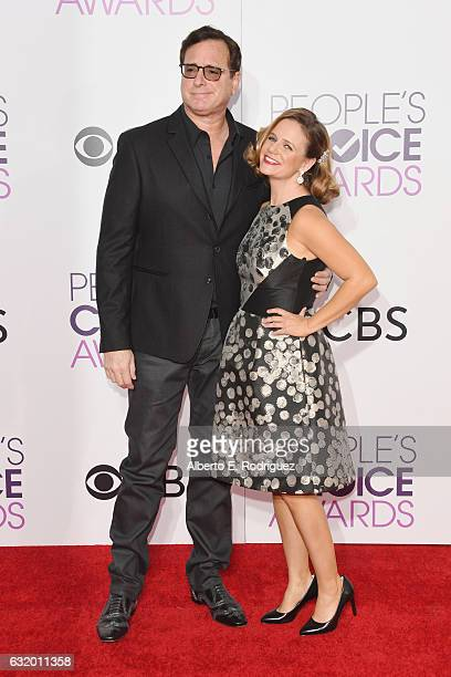 Actors Bob Saget and Andrea Barber attend the People's Choice Awards 2017 at Microsoft Theater on January 18 2017 in Los Angeles California
