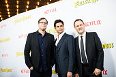 Actors Bob Saget John Stamos and Dave Coulier attend the premiere of Netflix's 'Fuller House' at Pacific Theatres at The Grove on February 16 2016 in...