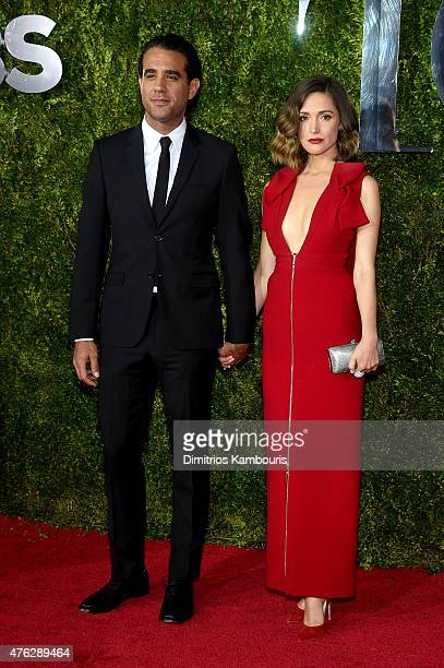 Actors Bobby Canivale and Rose Byrne attend the 2015 Tony Awards at Radio City Music Hall on June 7 2015 in New York City