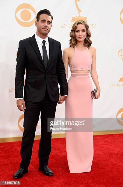 Actors Bobby Cannaval and Rose Byrne arrive at the 65th Annual Primetime Emmy Awards held at Nokia Theatre LA Live on September 22 2013 in Los...