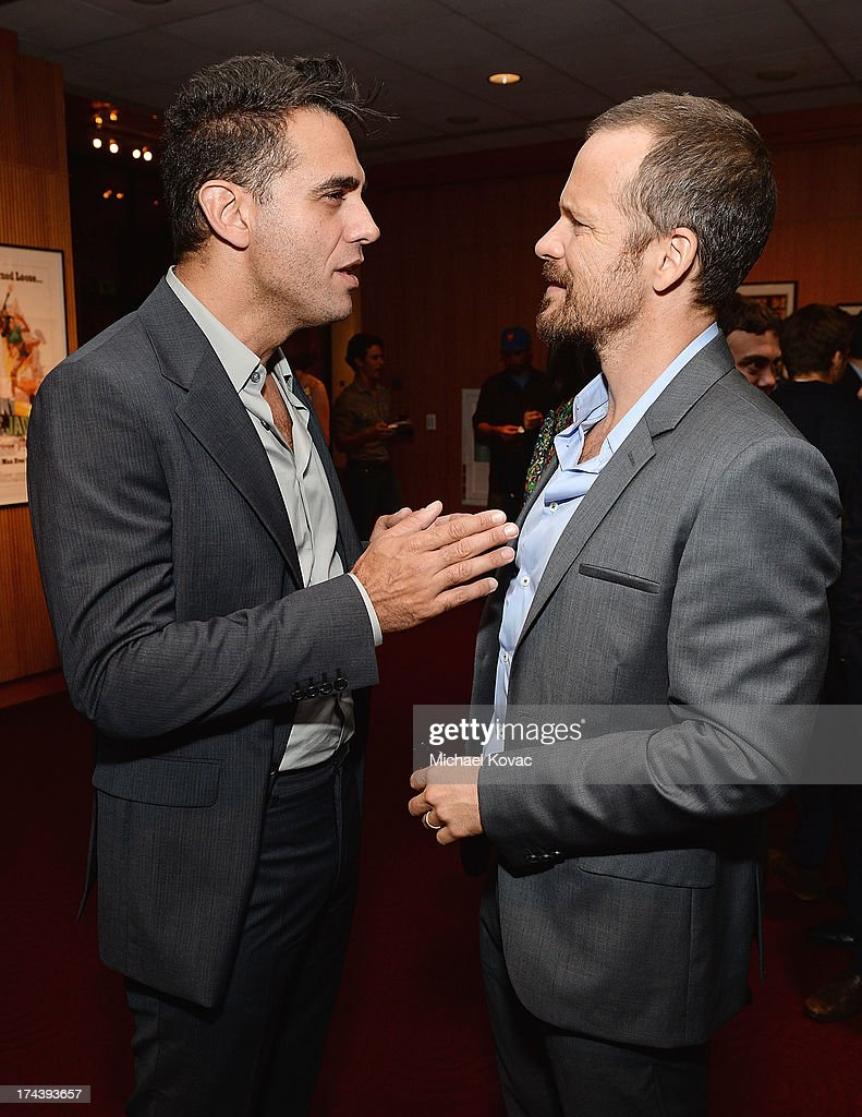 Actors <a gi-track='captionPersonalityLinkClicked' href=/galleries/search?phrase=Bobby+Cannavale&family=editorial&specificpeople=211166 ng-click='$event.stopPropagation()'>Bobby Cannavale</a> (L) and <a gi-track='captionPersonalityLinkClicked' href=/galleries/search?phrase=Peter+Sarsgaard&family=editorial&specificpeople=210547 ng-click='$event.stopPropagation()'>Peter Sarsgaard</a> attend AFI And Sony Picture Classics' Hosts The Premiere Of 'Blue Jasmine' After Party on July 24, 2013 in Beverly Hills, California.