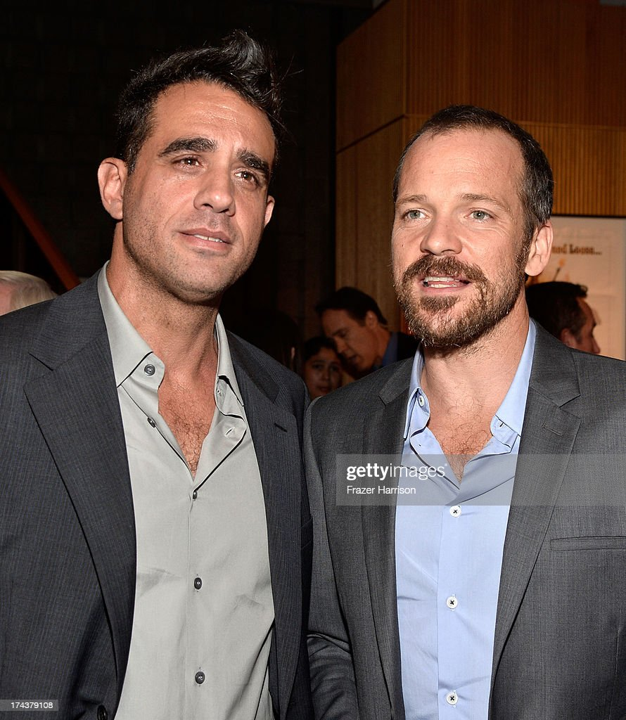 Actors <a gi-track='captionPersonalityLinkClicked' href=/galleries/search?phrase=Bobby+Cannavale&family=editorial&specificpeople=211166 ng-click='$event.stopPropagation()'>Bobby Cannavale</a> and <a gi-track='captionPersonalityLinkClicked' href=/galleries/search?phrase=Peter+Sarsgaard&family=editorial&specificpeople=210547 ng-click='$event.stopPropagation()'>Peter Sarsgaard</a> attend the after party for the premiere of 'Blue Jasmine' hosted by AFI & Sony Picture Classics at AMPAS Samuel Goldwyn Theater on July 24, 2013 in Beverly Hills, California.