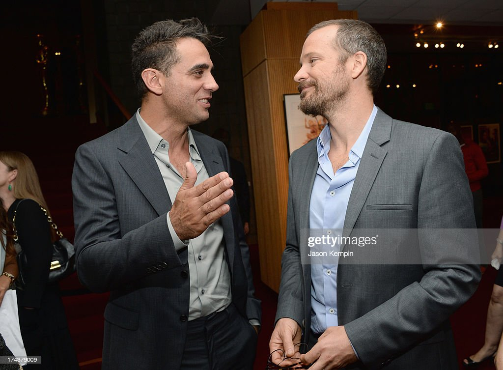 Actors <a gi-track='captionPersonalityLinkClicked' href=/galleries/search?phrase=Bobby+Cannavale&family=editorial&specificpeople=211166 ng-click='$event.stopPropagation()'>Bobby Cannavale</a> and <a gi-track='captionPersonalityLinkClicked' href=/galleries/search?phrase=Peter+Sarsgaard&family=editorial&specificpeople=210547 ng-click='$event.stopPropagation()'>Peter Sarsgaard</a> attend the afterparty for the premiere of AFI & Sony Picture Classics' 'Blue Jamsine' at the AMPAS Samuel Goldwyn Theatre on July 24, 2013 in Beverly Hills, California.