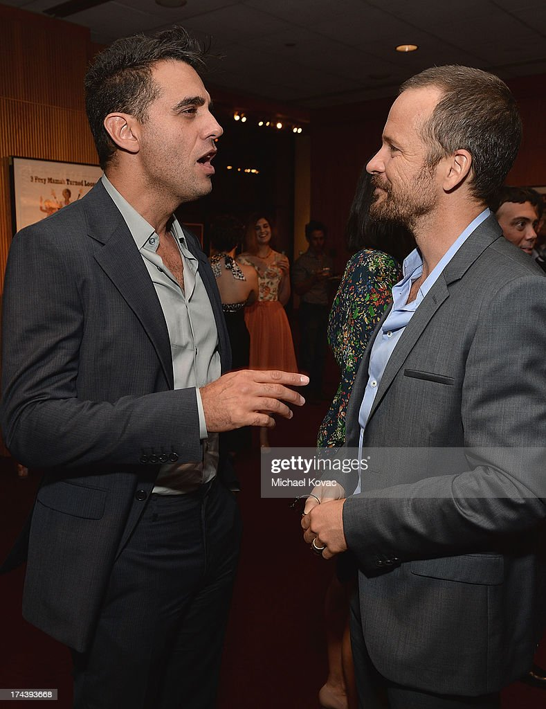 Actors <a gi-track='captionPersonalityLinkClicked' href=/galleries/search?phrase=Bobby+Cannavale&family=editorial&specificpeople=211166 ng-click='$event.stopPropagation()'>Bobby Cannavale</a> (L) and <a gi-track='captionPersonalityLinkClicked' href=/galleries/search?phrase=Peter+Sarsgaard&family=editorial&specificpeople=210547 ng-click='$event.stopPropagation()'>Peter Sarsgaard</a> attend the afterparty for AFI And Sony Picture Classics' Hosts The Premiere Of 'Blue Jasmine' on July 24, 2013 in Beverly Hills, California.