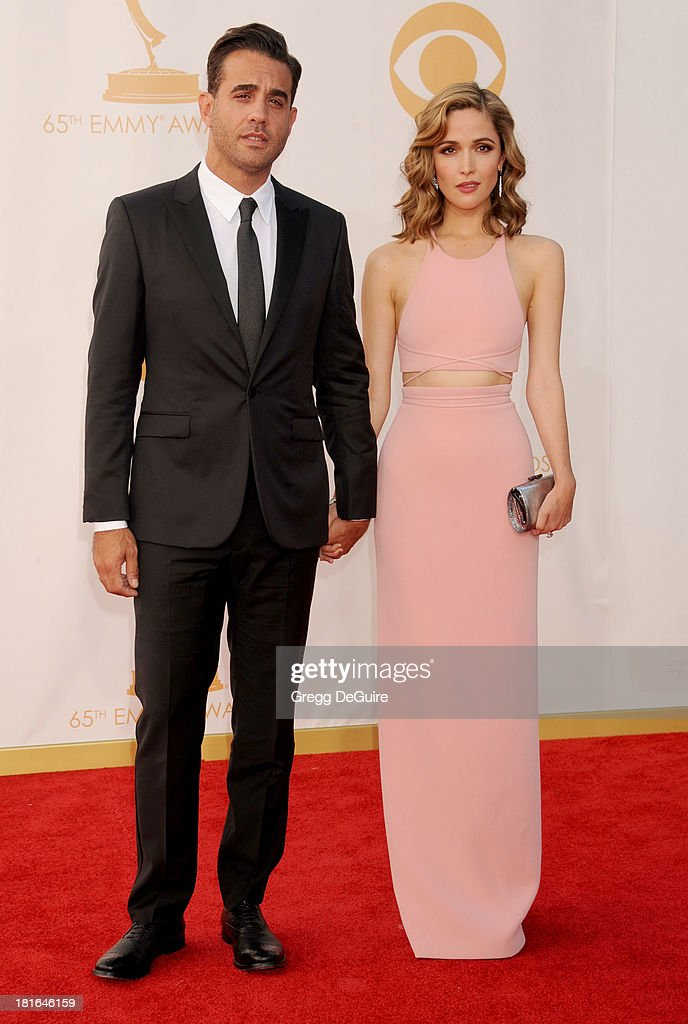 Actors Bobby Cannavale and Rose Byrne arrive at the 65th Annual Primetime Emmy Awards at Nokia Theatre L.A. Live on September 22, 2013 in Los Angeles, California.
