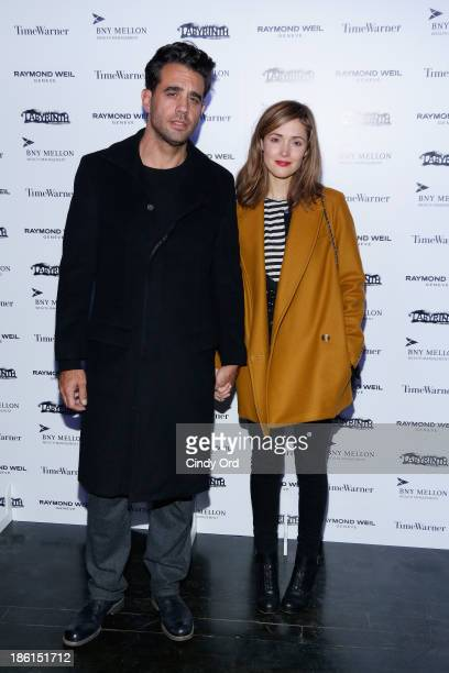 Actors Bobby Cannavale and Rose Byrne attend LAByrinth Theater Company Celebrity Charades 2013 Benefit Gala on October 28 2013 in New York City