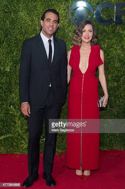 Actors Bobby Cannavale and Rose Byrne attend the American Theatre Wing's 69th Annual Tony Awards at Radio City Music Hall on June 7 2015 in New York...