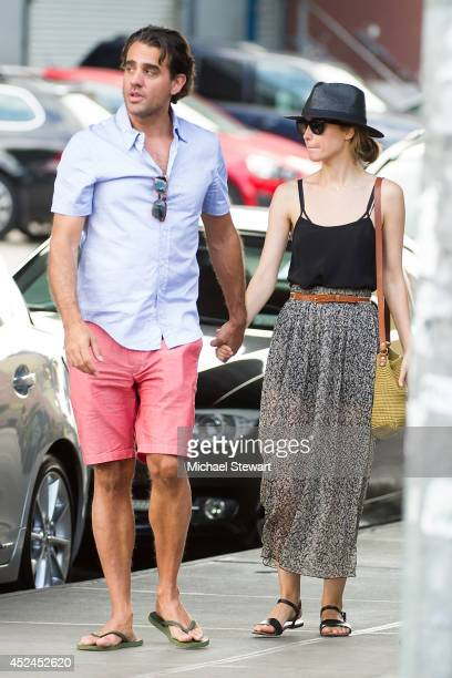 Actors Bobby Cannavale and Rose Byrne seen on the streets of Manhattan on July 20 2014 in New York City