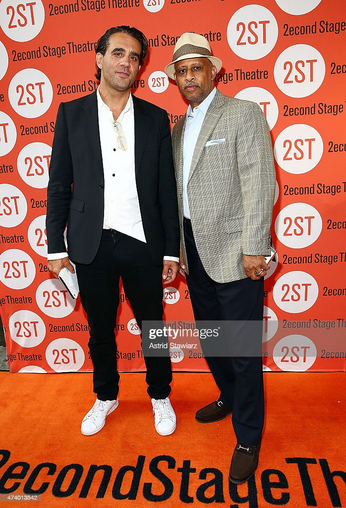 Actors Bobby Cannavale and Ruben SantiagoHudson attend 'The Way We Get By' opening night arrivals at Second Stage Theatre on May 19 2015 in New York...