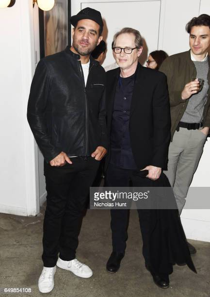 Actors Bobby Cannavale and Steve Buscemi attend the Metrograph Theater 1st Year Anniversary Party at The Metrograph on March 8 2017 in New York City