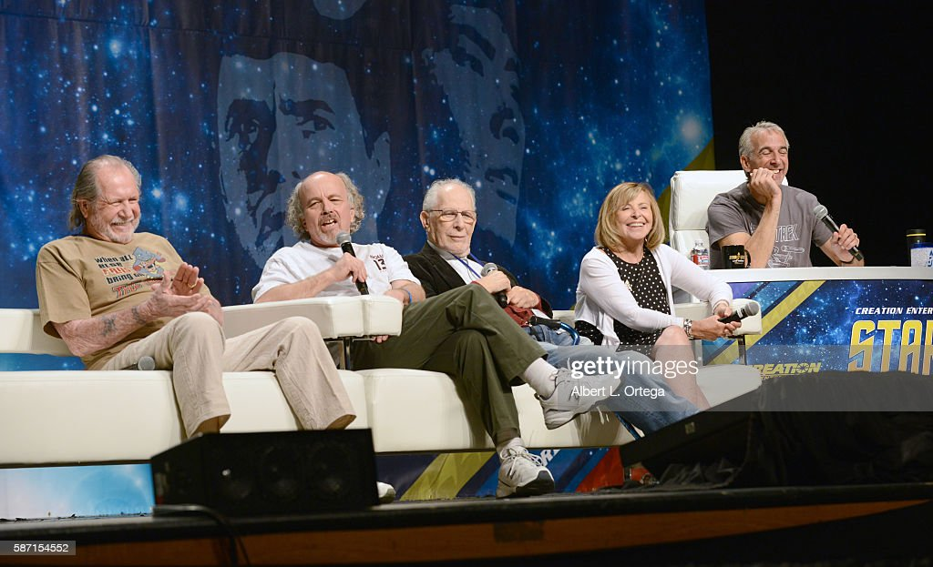 Actors Bobby Clark, Clint Howard, Jack Donner and Sandy Gimpel on day 5 of Creation Entertainment's Official Star Trek 50th Anniversary Convention at the Rio Hotel & Casino on August 7, 2016 in Las Vegas, Nevada.