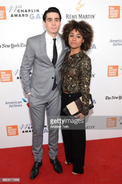 Actors Bobby Conte Thornton and Ariana DeBose attend the 44th Chaplin Award Gala at David H Koch Theater at Lincoln Center on May 8 2017 in New York...