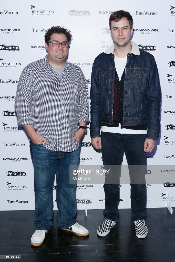 Actors <a gi-track='captionPersonalityLinkClicked' href=/galleries/search?phrase=Bobby+Moynihan&family=editorial&specificpeople=5633398 ng-click='$event.stopPropagation()'>Bobby Moynihan</a> (L) and <a gi-track='captionPersonalityLinkClicked' href=/galleries/search?phrase=Taran+Killam&family=editorial&specificpeople=3798325 ng-click='$event.stopPropagation()'>Taran Killam</a> attend LAByrinth Theater Company Celebrity Charades 2013 Benefit Gala on October 28, 2013 in New York City.