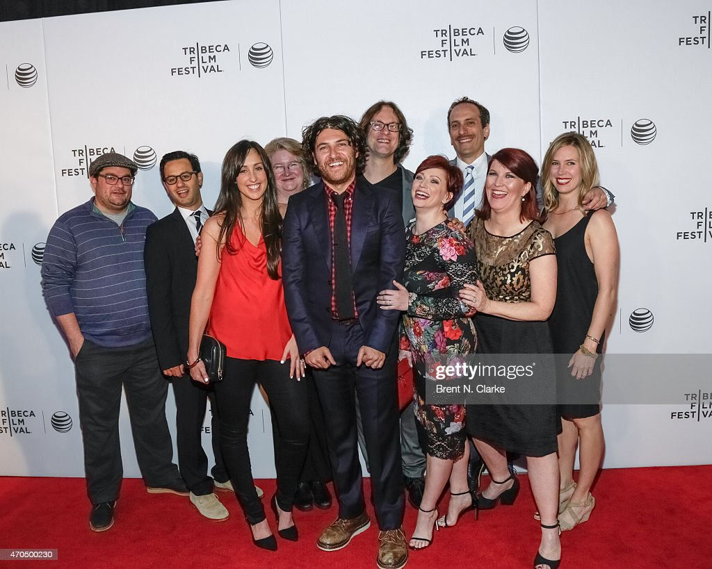 Actors Bobby Moynihan, Gil Ozeri, Catherine Reitman, Marceline Hugot, Adam Pally, directors Don Argott, Sheena M. Joyce, actors Peter Grosz, Kate Flannery and Mary Grill arrive for the World Premiere Narrative: 'Slow Learners' during the 2015 Tribeca Film Festival held at Regal Battery Park 11 on April 20, 2015 in New York City.