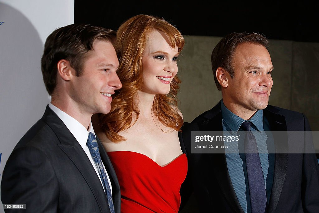 Actors Bobby Steggert, Kate Baldwin and Norbert Leo Butz attend the 'Big Fish' Broadway Opening Night After Party at Roseland Ballroom on October 6, 2013 in New York City.