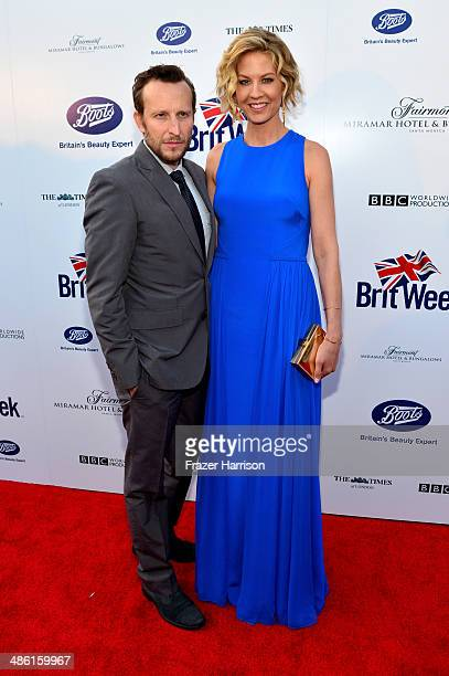 Actors Bodhi Elfman and Jenna Elfman attend the 8th Annual BritWeek Launch Party at a private residence on April 22 2014 in Los Angeles California