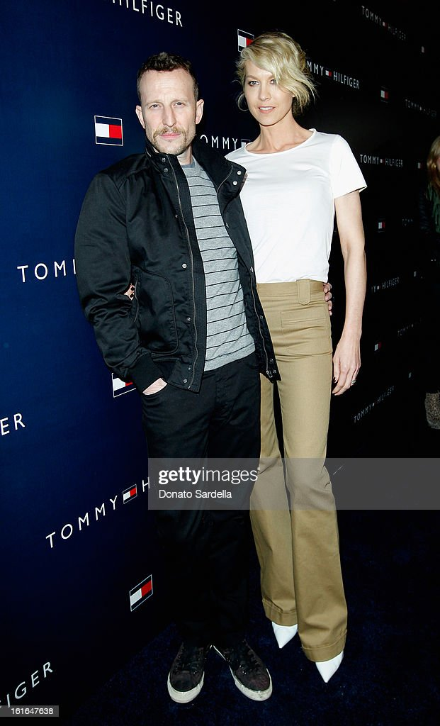 Actors Bodhi Elfman and Jenna Elfman attend Tommy Hilfiger New West Coast Flagship Opening on Robertson Boulevard on February 13, 2013 in West Hollywood, California.