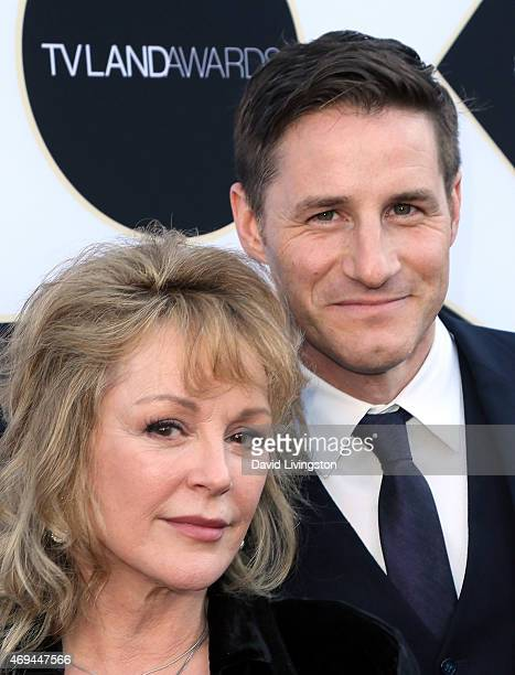 Actors Bonnie Bedelia and Sam Jaeger attend the 2015 TV Land Awards at the Saban Theatre on April 11 2015 in Beverly Hills California