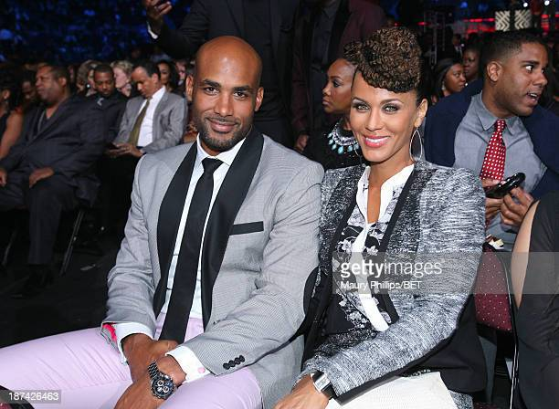 Actors Boris Kodjoe and Nicole Ari Parker attend the Soul Train Awards 2013 at the Orleans Arena on November 8 2013 in Las Vegas Nevada