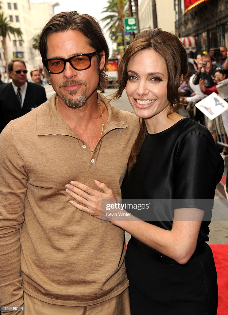 Actors Brad Pitt (L) and Angelina Jolie arrive at the Los Angeles premiere Of DreamWorks Animation's 'Kung Fu Panda 2' held at Grauman's Chinese Theatre on May 22, 2011 in Hollywood, California.