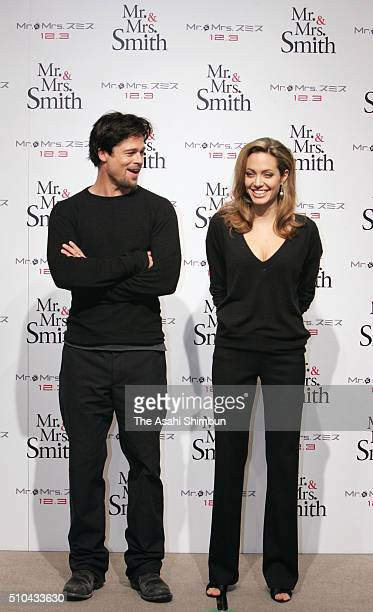 angelina jolie brad pitt mr and mrs smith stock photos and