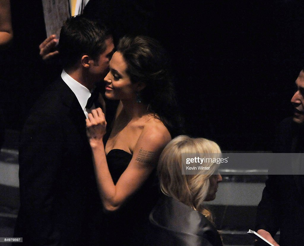 Actors Brad Pitt and Angelina Jolie during the 81st Annual Academy Awards held at Kodak Theatre on February 22, 2009 in Los Angeles, California.