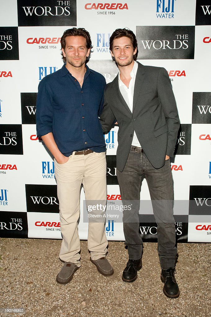 Actors <a gi-track='captionPersonalityLinkClicked' href=/galleries/search?phrase=Bradley+Cooper&family=editorial&specificpeople=680224 ng-click='$event.stopPropagation()'>Bradley Cooper</a> and <a gi-track='captionPersonalityLinkClicked' href=/galleries/search?phrase=Ben+Barnes&family=editorial&specificpeople=2258333 ng-click='$event.stopPropagation()'>Ben Barnes</a> attend 'The Words' screening at Goose Creek on August 25, 2012 in East Hampton, New York.