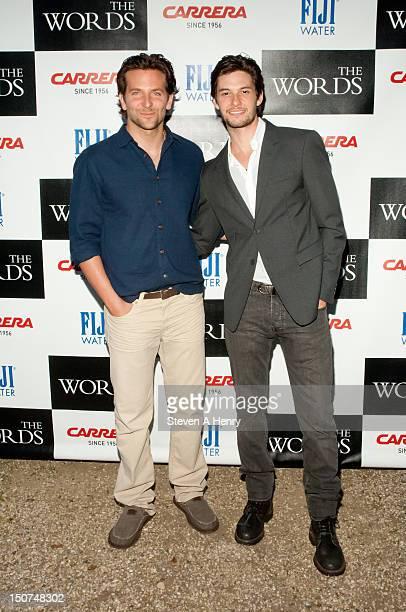 Actors Bradley Cooper and Ben Barnes attend 'The Words' screening at Goose Creek on August 25 2012 in East Hampton New York