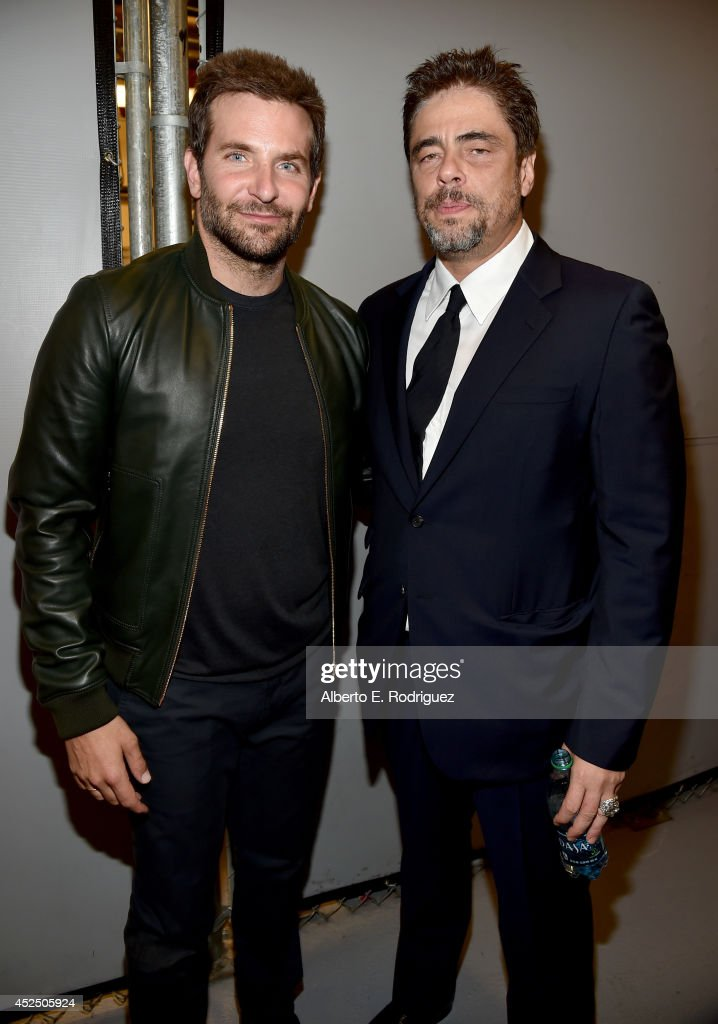 "Actors Bradley Cooper and Benicio del Toro attend The World Premiere of Marvel's epic space adventure ""Guardians of the Galaxy,"" directed by James Gunn and presented in Dolby 3D and Dolby Atmos at the Dolby Theatre. July 21, 2014 Hollywood, CA"