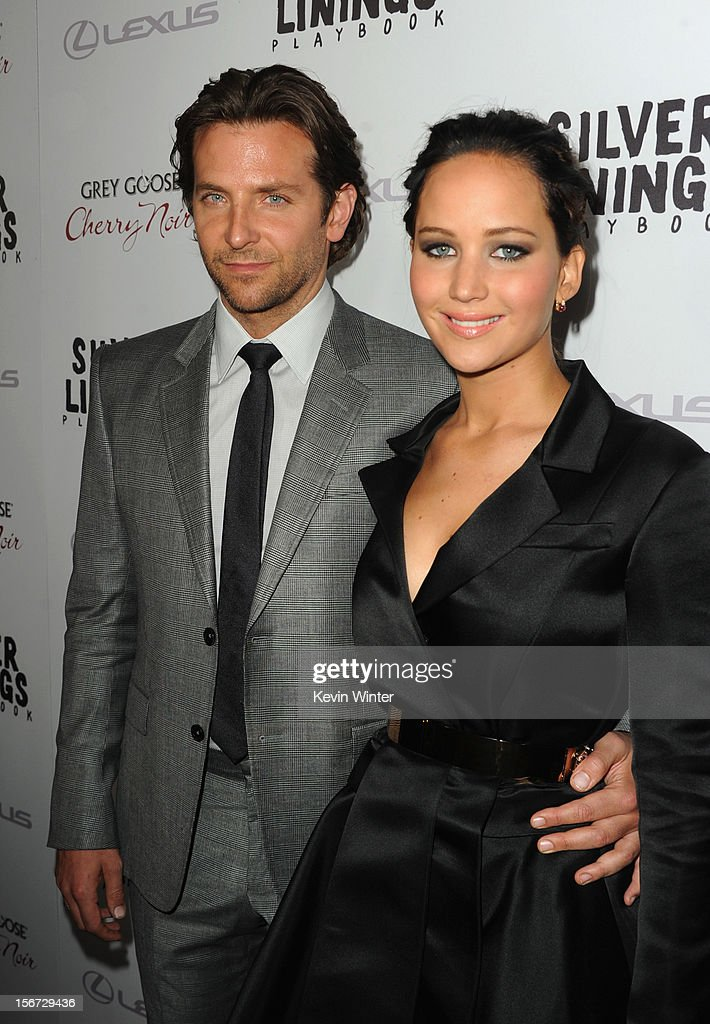 Actors <a gi-track='captionPersonalityLinkClicked' href=/galleries/search?phrase=Bradley+Cooper&family=editorial&specificpeople=680224 ng-click='$event.stopPropagation()'>Bradley Cooper</a> and <a gi-track='captionPersonalityLinkClicked' href=/galleries/search?phrase=Jennifer+Lawrence&family=editorial&specificpeople=1596040 ng-click='$event.stopPropagation()'>Jennifer Lawrence</a> attend a screening of The Weinstein Company's 'Silver Linings Playbook' at the Academy of Motion Picture Arts and Sciences on November 19, 2012 in Beverly Hills, California.
