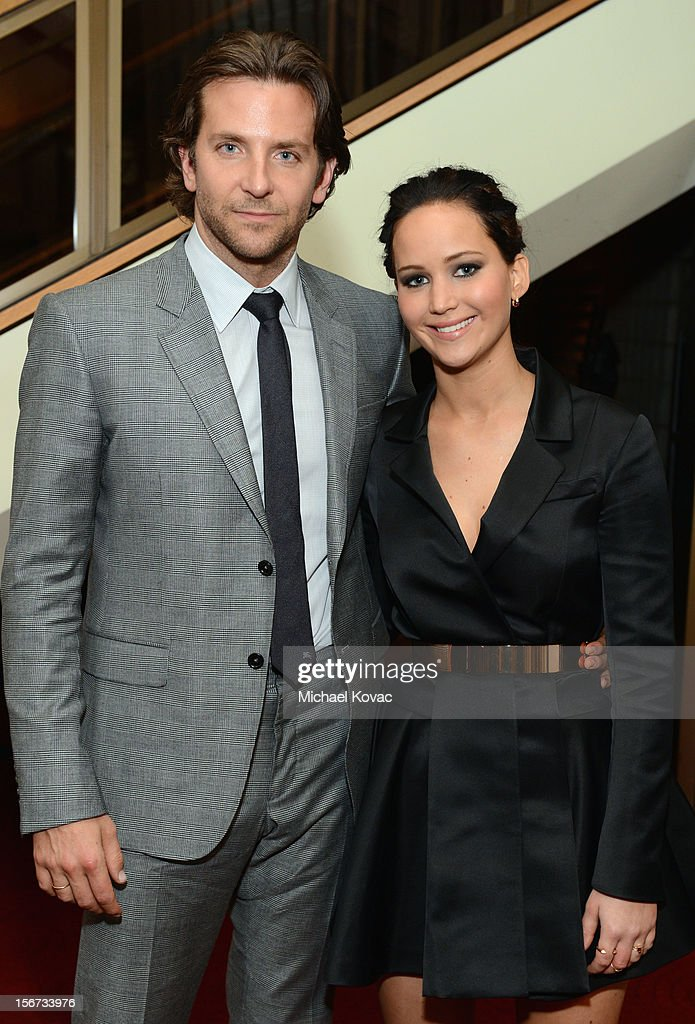 Actors Bradley Cooper and Jennifer Lawrence attend a special screening of 'Silver Linings Playbook' presented by The Weinstein Company sponsored by Grey Goose and Lexus at AMPAS Samuel Goldwyn Theater on November 19, 2012 in Beverly Hills, California.